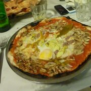 A pizza with egg. What the..?