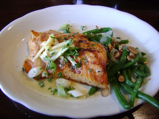 ... topped with ginger butter & served with almond green beans) | Yelp