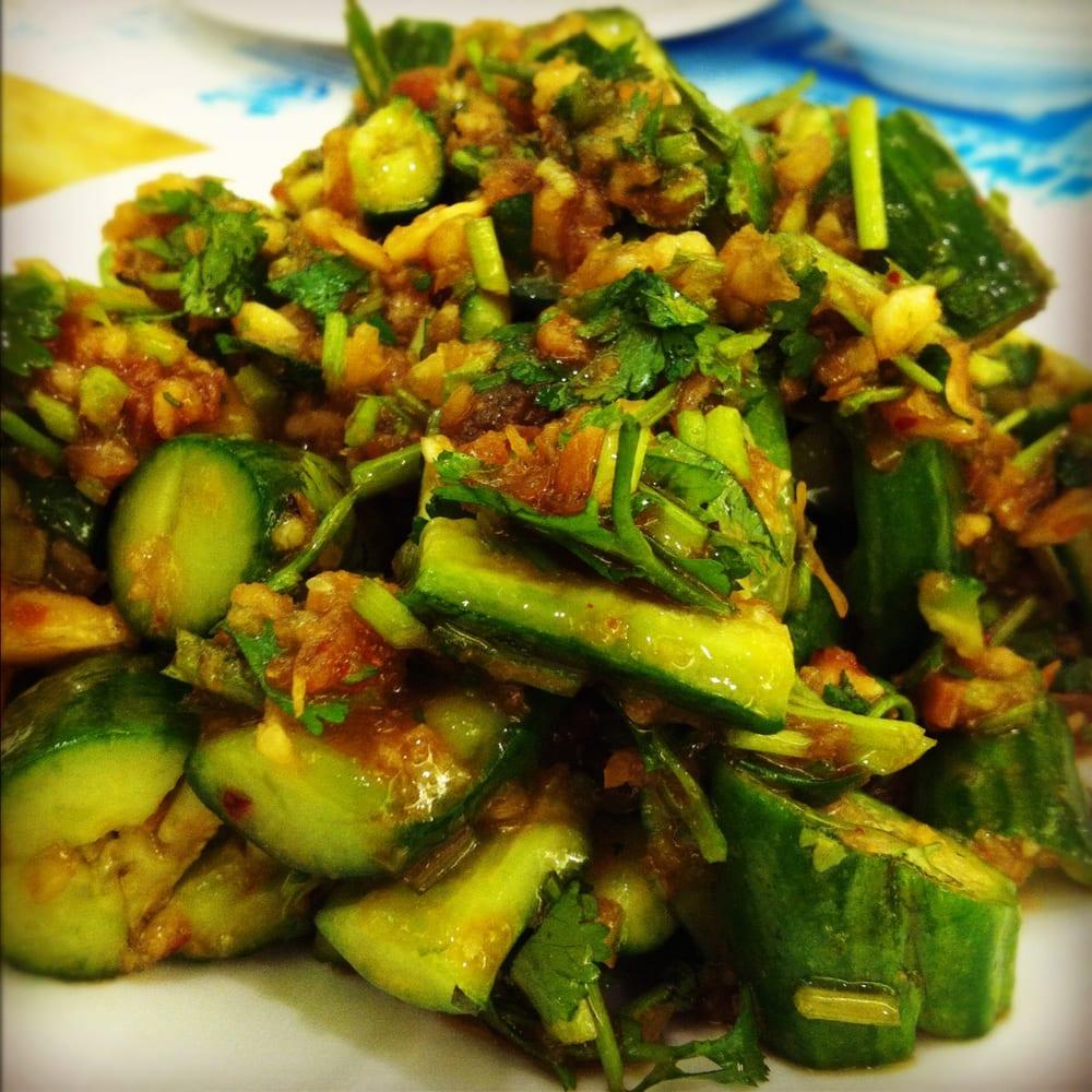 Chinese Cucumber Salad (w/ Garlic and XO sauce) | Yelp