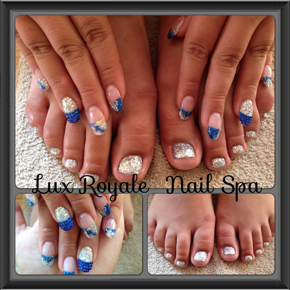 Acrylic glitter nails and toes for quinceanera 15th b day for Acrylic toenails salon