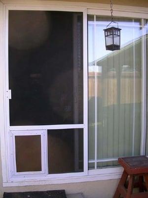 extruded white patio screen door with door added yelp
