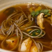 Spicy Cuttlefish Noodle Soup, with soba (£8.25)