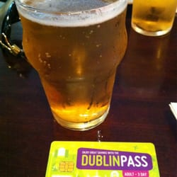 Free half pint of beer with Dublin pass.