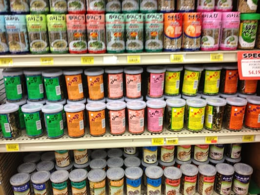 There are many different types of furikake