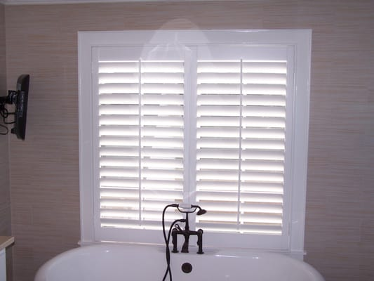 This Is A Two Panel Plantation Shutters With No Divider