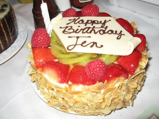 Fruit Custard Cake