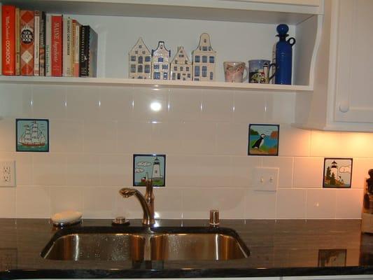 Nautical backsplash joy studio design gallery best design for Nautical kitchen backsplash
