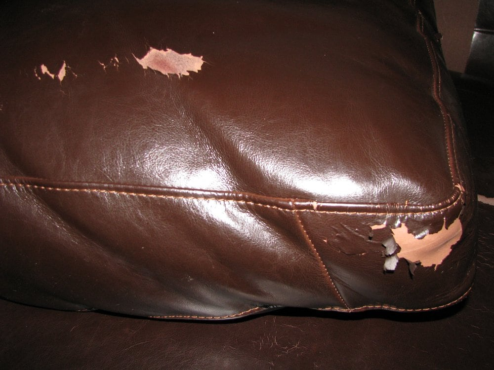 The Peeling Leather Of My Four Hands Sofa Yelp