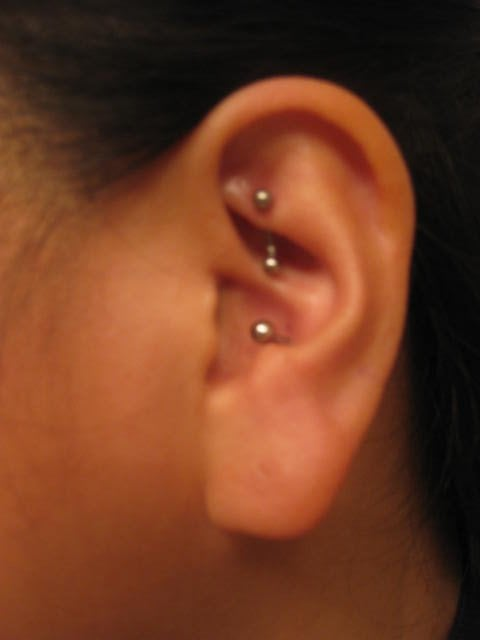 Conch Piercing Piercing Inside My Ear The One On Top Was Done At Another Place Yelp
