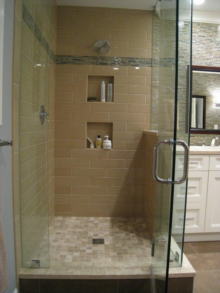 Custom walk-in shower. | Yelp