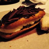 Boozy eclair and chestnut ice cream