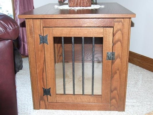 Handcrafted Solid Wood Dog Crate Furniture