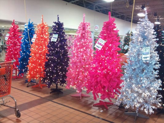 Garden Ridge Has Every Color Of Christmas Tree You Can Imagine Yelp