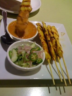 For starters... Mmmm ... Chicken Satay !!