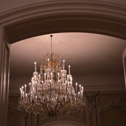 one of many chandeliers at Schloss Laxenburg