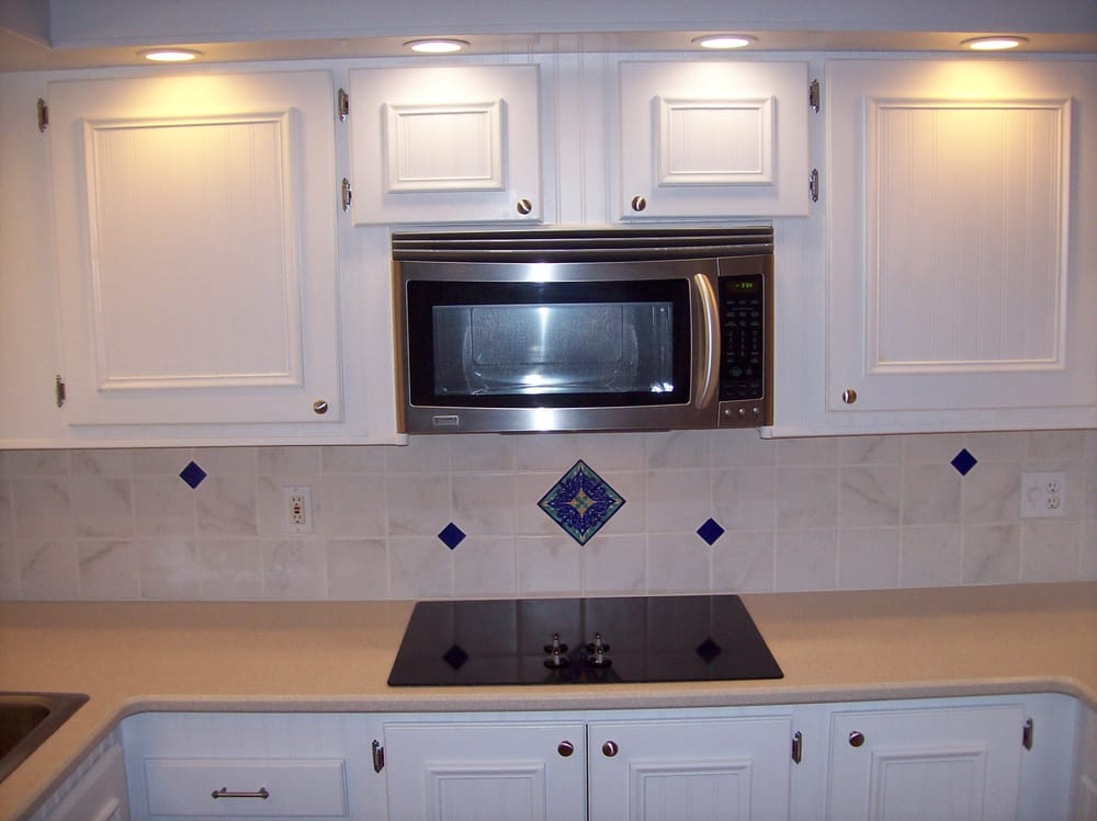 Kitchen remodel in mobile home complete with custom faced cabinet faces doors drawer yelp Mobile home kitchen remodel pictures