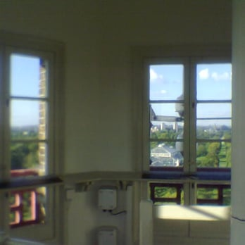 Late summer's view from inside Kew's pagoda