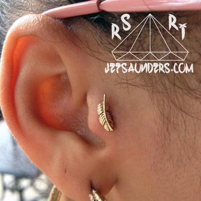 14k gold vagina piercing