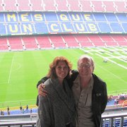 Me and Gayle at the Stadium