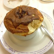Foi gras soufflé: duck liver and pear jam...yummy and so filling
