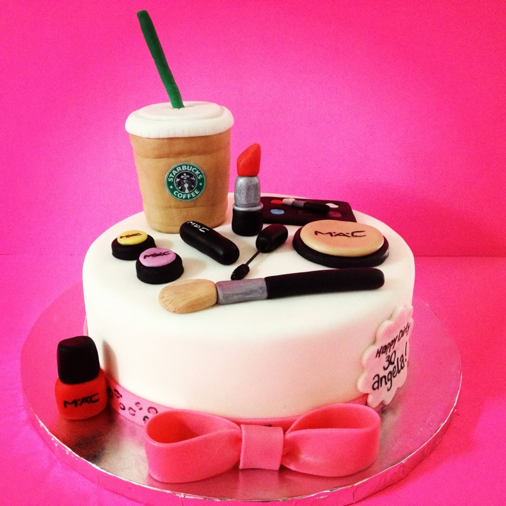 Mac makeup and Starbucks themed cake Yelp