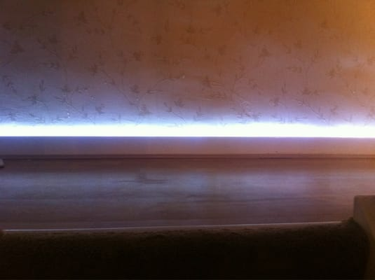 Our led lighting used as a skirting board feature yelp - Led skirting board lighting ...