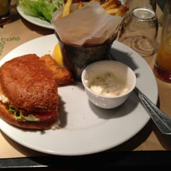 Fish & chips and chicken burger