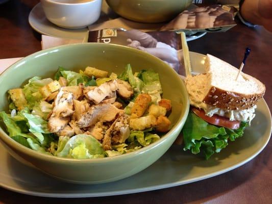 Grilled chicken caesar salad and tuna sandwich yelp