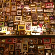 The walls are filled with pictures of moms!