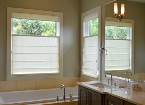 Roman fabric shades can come in a top down bottom up for Motorized top down bottom up shades