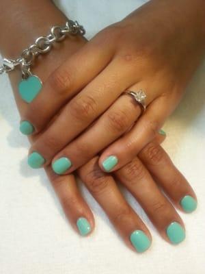 Tiffany Blue Shellac Gel Manicure | Yelp