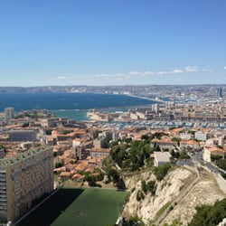 view of Marseille from the basilica