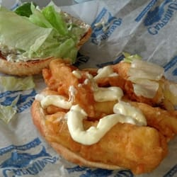 Captain d s seafood restaurants seafood chesapeake va for Fish sandwich near me