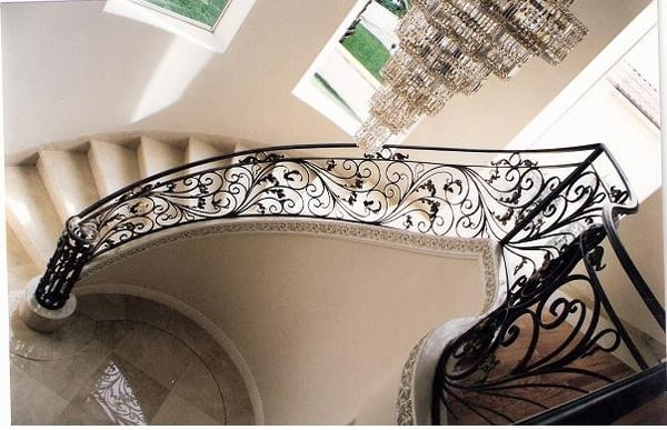 Custom Design Wrought Iron Stair Railing | Yelp