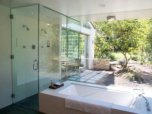 bathroom remodel with indoor outdoor shower yelp