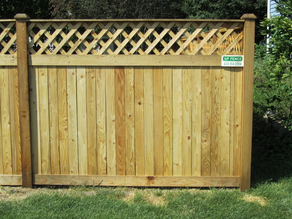 how to put lattice on a fence
