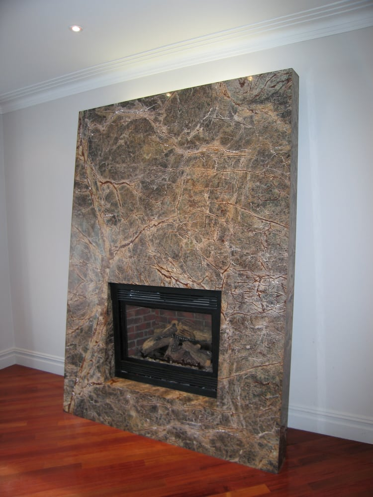 modern fireplace with marble surround yelp