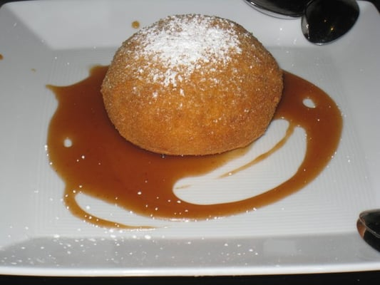 Homemade, vanilla ice cream filled brioche with caramel sauce | Yelp