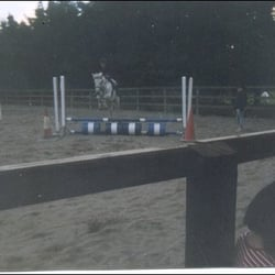 Myself clearing the final fence at Forrest Equestrian Centre