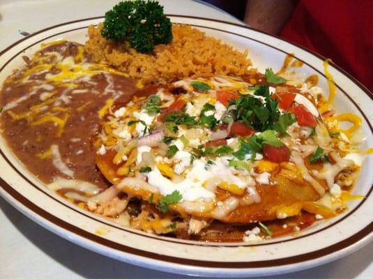 Chicken topitio enchiladas (stacked) | Yelp