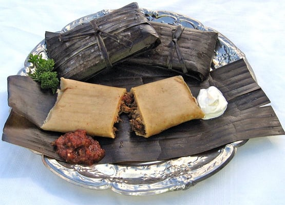 Banana Leaf Tamales popular in southern Mexico and other central and S ...