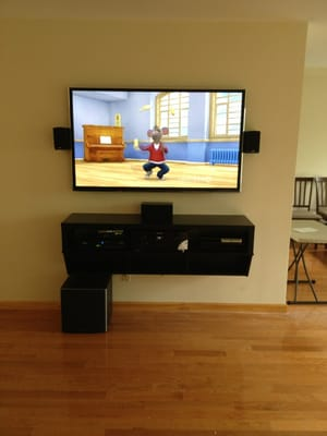 5 1 Surround Sound System Tv Floating Stand Tv Installed