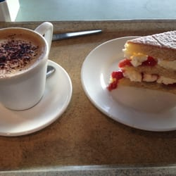 Free cappuccino and cake at john lewis