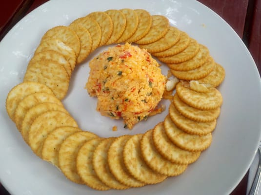 Pimento cheese appetizer with Ritz Crackers!   Yelp