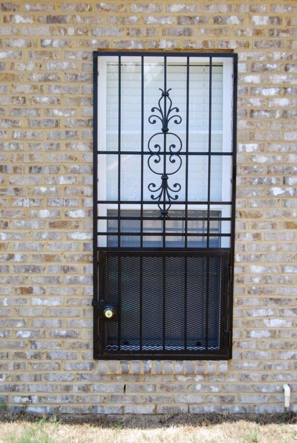 Interior window burglar bars decorative window security for Window bars design