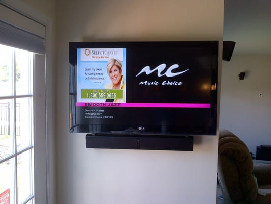 Wall Mount Tv Installation With Sound Bar Yelp
