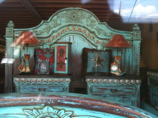 Turquoise Mahogany Bed With Silver Conchos Yelp