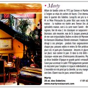 Restaurant Marty, Paris, France
