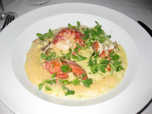 ... Poached Lobster with Chanterelles & Mascarpone Risotto...mmmmmmm