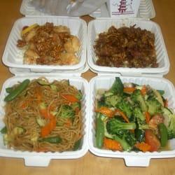 Walnut prawns, orange beef, FREE chow mein, veggie delight, steamed ...